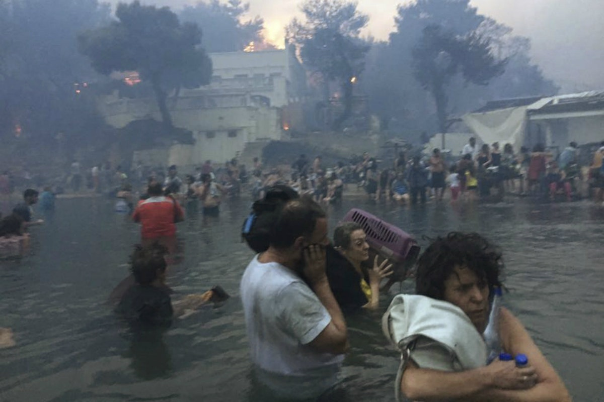 Tears, grief at memorial service for Greek wildfire victims